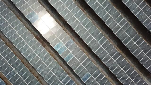 Top view of Solar farm, Renewable Energy industry