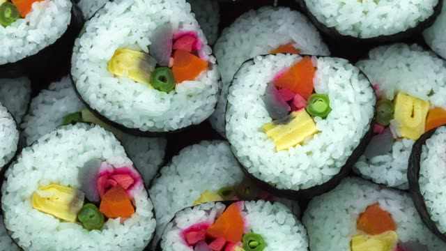 top view of sushi roll - mango stock videos & royalty-free footage