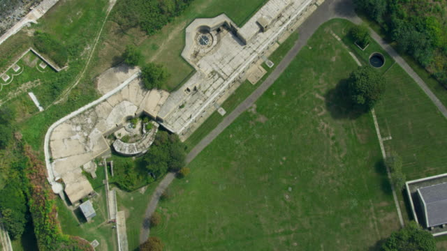 top view of the gun emplacements at fort warren - surrounding wall stock videos & royalty-free footage