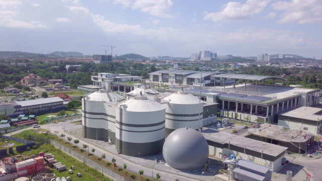 top view of the white oil tank - kuala lumpur stock videos & royalty-free footage