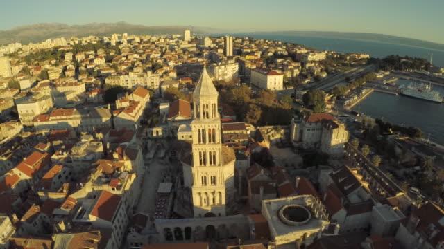 vídeos y material grabado en eventos de stock de top view, old town, split, croatia - región de dalmacia croacia