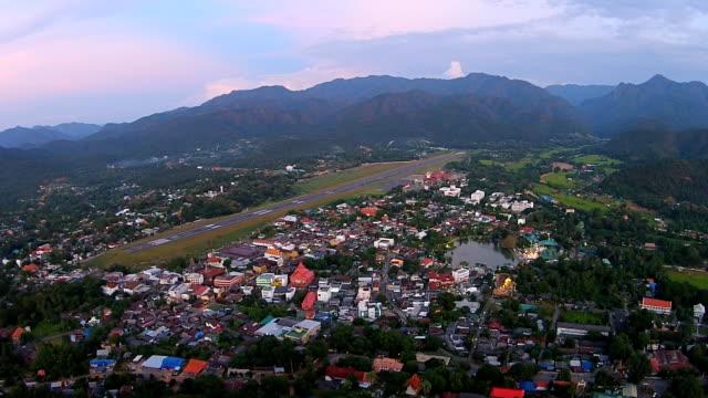 hd: top view on mae hong son province, thailand - mae hong son province stock videos and b-roll footage