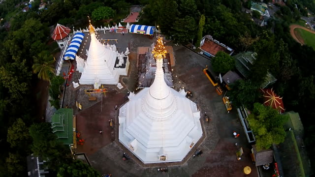 top view wat phra that doi kong moo - mae hong son province stock videos and b-roll footage