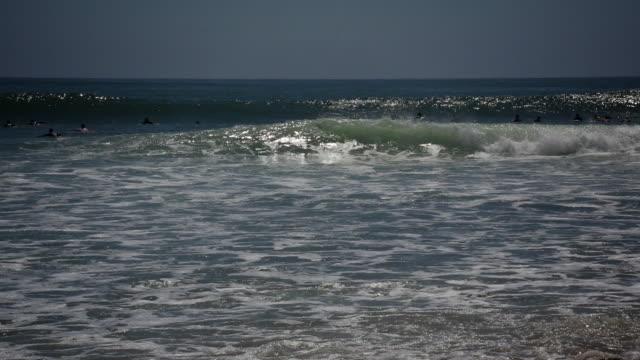 Topanga beach surfing