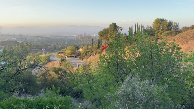 topanga canyon  road and view of los angeles westside / westwood area - westwood neighborhood los angeles stock videos & royalty-free footage