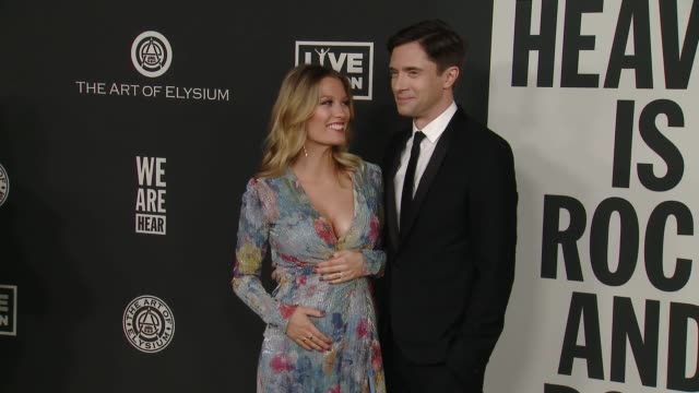 "topher grace and ashley grace at the art of elysium presents ""we are hear's"" heaven at hollywood palladium on january 04, 2020 in los angeles,... - topher grace stock videos & royalty-free footage"