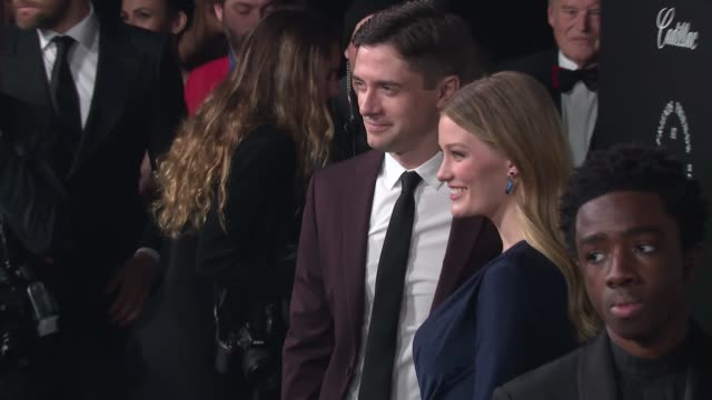 topher grace and ashley hinshaw at the art of elysium's presents john legend's heaven at barker hangar on january 06 2018 in santa monica california - topher grace stock videos and b-roll footage