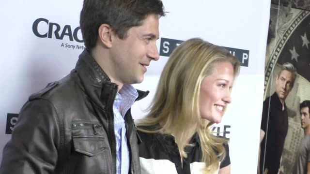 topher grace ashley hinshaw at the premiere of crackle's startup at london hotel in west hollywood in celebrity sightings in los angeles - topher grace stock videos and b-roll footage