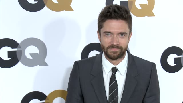 topher grace at gq's 2012 men of the year party on 11/13/12 in los angeles, ca - topher grace stock videos & royalty-free footage