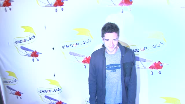 "topher grace at ""stand up for gus"" benefit in west hollywood, ca, on . - topher grace stock videos & royalty-free footage"