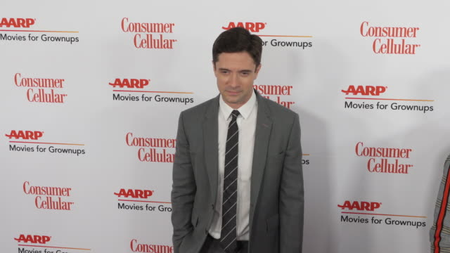 topher grace at the 18th annual movies for grownups awards at the beverly wilshire four seasons hotel on february 04, 2019 in beverly hills,... - フォーシーズンズホテル点の映像素材/bロール