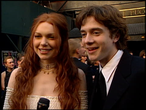 topher grace at the 1999 tv guide awards entrances at fox studios in century city, california on february 1, 1999. - topher grace stock videos & royalty-free footage