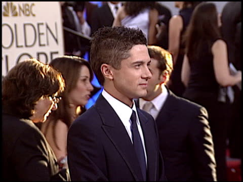topher grace at the 2005 golden globe awards at the beverly hilton in beverly hills, california on january 16, 2005. - topher grace stock videos & royalty-free footage