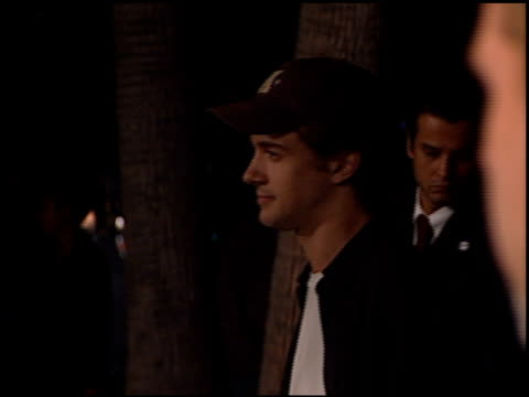 topher grace at the 'amelie' premiere at academy theater in beverly hills california on october 9 2001 - topher grace stock videos and b-roll footage