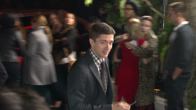 topher grace at the gq's 2011 'men of the year' party at los angeles ca. - topher grace stock videos & royalty-free footage