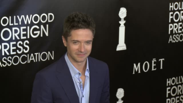 topher grace at the hollywood foreign press association's annual grants banquet dinner at the beverly wilshire four seasons hotel on august 13, 2015... - topher grace stock videos & royalty-free footage