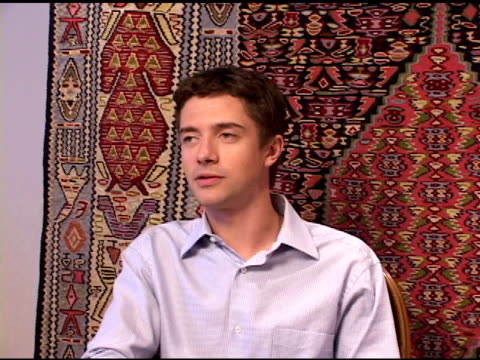 topher grace at the hp portrait studio presented by wireimage and kontent publishing at intercontinental in toronto ontario on september 13 2004 - topher grace stock videos and b-roll footage