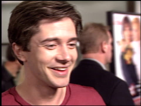 topher grace at the 'just married' premiere at the cinerama dome at arclight cinemas in hollywood california on january 8 2003 - topher grace stock videos and b-roll footage