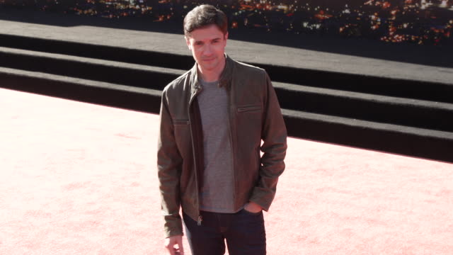 """topher grace at the """"once upon a time in hollywood"""" premiere at tcl chinese theatre on july 22, 2019 in hollywood, california. - topher grace stock videos & royalty-free footage"""