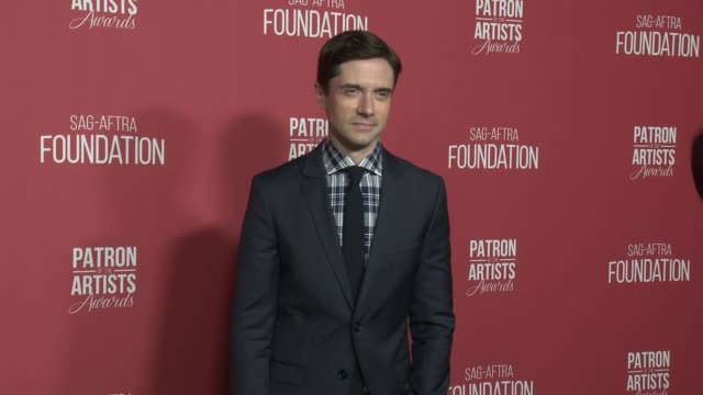 topher grace at the sag-aftra foundation's 3rd annual patron of the artists awards at wallis annenberg center for the performing arts on november 8,... - topher grace stock videos & royalty-free footage