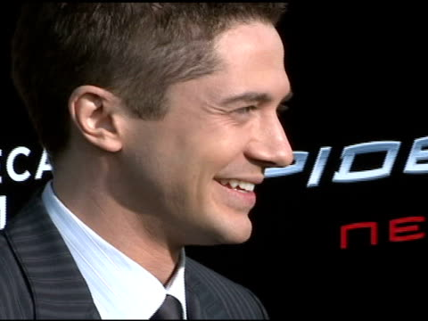topher grace at the 'spiderman 3' premiere at 2007 tribeca film festival at the astoria kaufman theater in new york new york on april 30 2007 - topher grace stock videos and b-roll footage