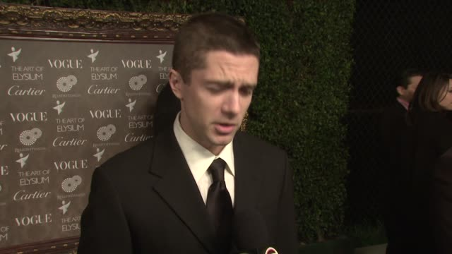 topher grace at the the art of elysium's 2nd annual black tie charity gala, 'heaven' at los angeles ca. - topher grace stock videos & royalty-free footage