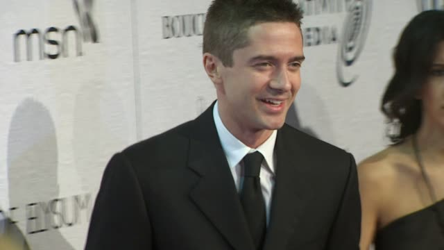 topher grace at the the art of elysium's 3rd annual black tie charity gala 'heaven' at beverly hills ca. - topher grace stock videos & royalty-free footage