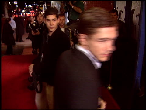 topher grace at the 'win a date with tad hamilton' premiere on january 9 2004 - topher grace stock videos and b-roll footage