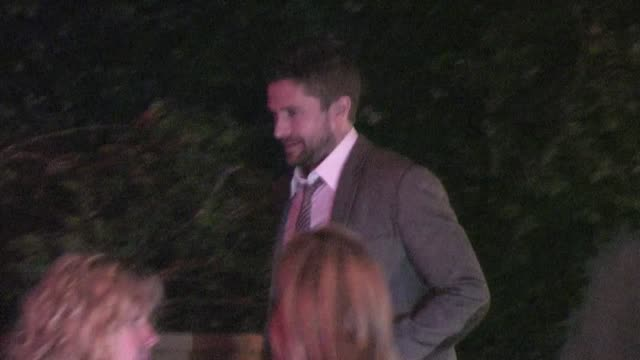 topher grace leaving sunset tower in west hollywood 02/23/12 - topher grace stock videos and b-roll footage