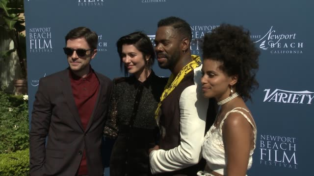 topher grace mary elizabeth winstead colman domingo and zazie beetz at newport beach film festival fall honors variety 10 actors to watch at the... - topher grace stock videos & royalty-free footage