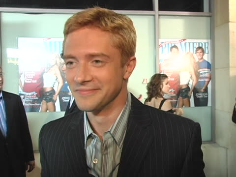 topher grace on his reaction to being named young and powerful on the times when he considers himself successful on his definition of power in... - topher grace stock videos and b-roll footage