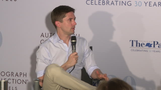 topher grace on how amazing the cast of 'that 70's show are amazing how great it is to work with the same cast of such a long time and working with... - topher grace stock videos and b-roll footage