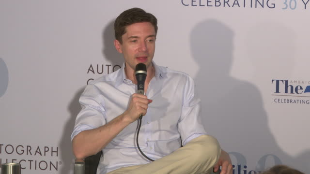 topher grace on how editing is a hobby of his his edits of star wars and hobbit and whether he will be at cannes with an edit at in conversation... - topher grace stock videos and b-roll footage