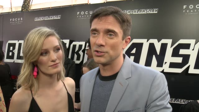 vidéos et rushes de topher grace on why this story captured his attention, what makes this a perfect spike lee joint film and what conversations he hopes the audience... - nbcuniversal