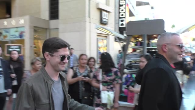 topher grace outside the once upon a time in hollywood premiere at tcl chinese theatre in hollywood in celebrity sightings in los angeles - topher grace stock videos & royalty-free footage