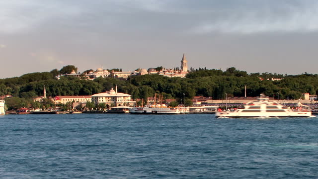 topkapi palace and hagia sophia - spice bazaar stock videos & royalty-free footage