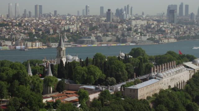 topkapi palace istanbul with city skyline - eminonu district stock videos and b-roll footage
