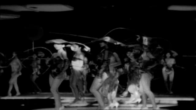 topless revue at nightclub, 1960 - burlesque stock videos & royalty-free footage