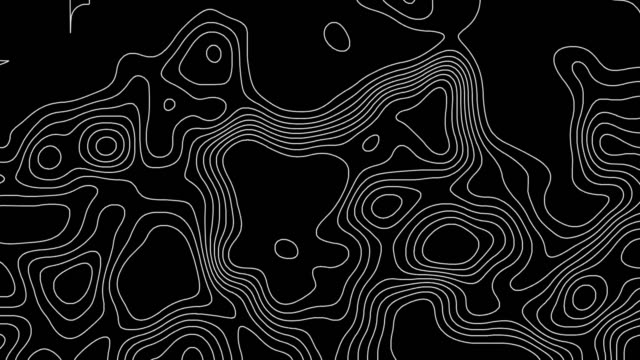 topographic line contour map background, geographic grid map, black and white, animation - topography stock videos & royalty-free footage