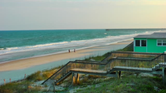 topsail island - nc outer banks - beach house stock videos & royalty-free footage
