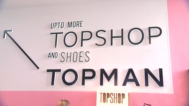 SIGNAGE Topshop Celebrates the Holidays at The Grove with a Special Performance by Natalia Kills on 11/02/13 in Los Angeles CA
