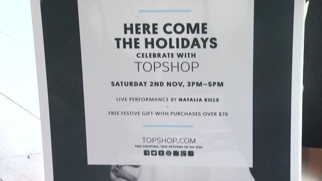 SIGNANGE Topshop Celebrates the Holidays at The Grove with a Special Performance by Natalia Kills on 11/02/13 in Los Angeles CA