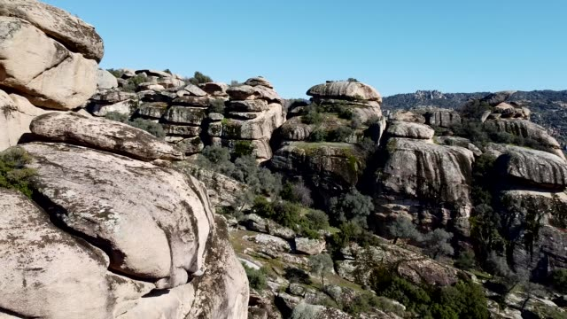 tor topography on granite cliffs, aydın city, turkey - eroded stock videos & royalty-free footage