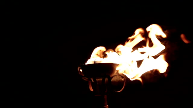 torches with fire and flames burning - flaming torch stock videos & royalty-free footage