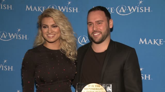 tori kelly scooter braun at 4th annual wishing well winter gala presented by makeawish greater los angeles in los angeles ca - wishing well stock videos & royalty-free footage