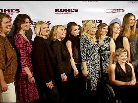 tori spelling and daisy fuentes with transformation nation contest finalists at the kohl's and conde nast media group present the kohl's... - tori spelling stock videos & royalty-free footage