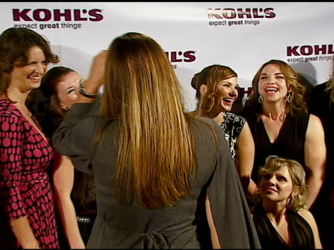 tori spelling and daisy fuentes with transformation nation contest finalists at the kohl's and conde nast media group present the kohl's... - conde nast media group stock videos & royalty-free footage