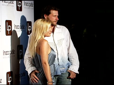 tori spelling and dean mcdermott at the linea pelle 20th anniversay party at pacific design center in west hollywood california on june 13 2006 - tori spelling stock videos and b-roll footage