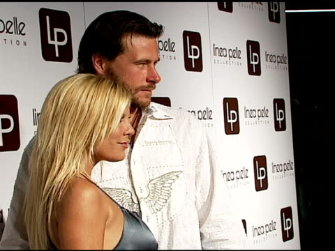 tori spelling and dean mcdermott at the linea pelle 20th anniversay party at pacific design center in west hollywood, california on june 13, 2006. - tori spelling stock videos & royalty-free footage
