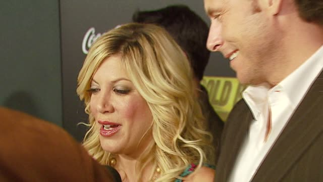 tori spelling and dean mcdermott at the mark burnett and aol celebrate the launch of gold rush at les deux in los angeles california on september 12... - california gold rush stock videos and b-roll footage